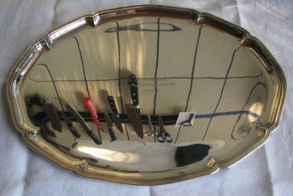 zilver dienblad chippendale heerenhof
