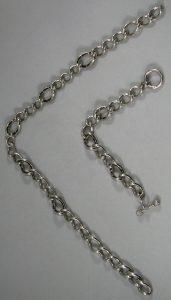 Massief 925 sterling zilveren armband en halsketting met strass. Gerodineerd. Ti Sento Milano