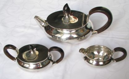 Zilver theeservies Gustav Beran Art Deco 1936