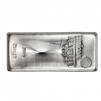 Zilver baren en munten