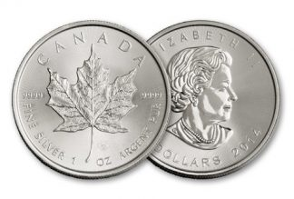 zilver maple leaf canada